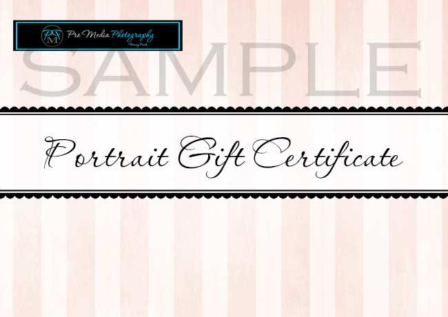 Portrait Gift Certificate